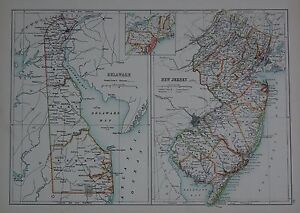 USSTATES LARGE MAP DELAWARE NEW JERSEY EBay - Large map of us states