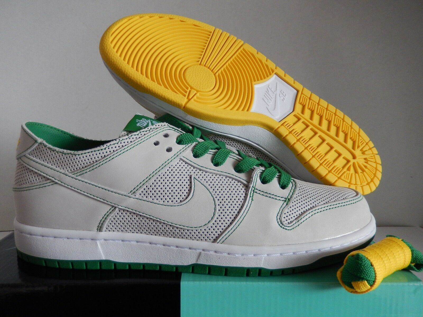 NIKE SB ZOOM DUNK LOW PRO DECON QS  ISHOD WAIR  WHITE-YELLOW SZ 10 [AR1399-113]
