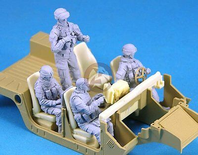 Legend 1/35 Modern US Army Vehicle Soldier Crew Set (4 Figures) [Resin] LF0129