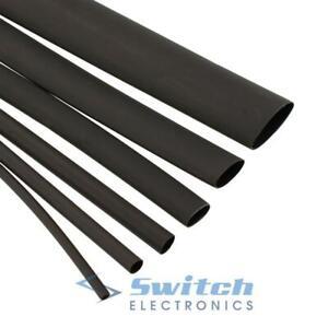 1 Meter, 19.1mm 3:1 Tubing Black Adhesive Heat Shrink Waterproof HeatShrink Glue Lined Tube Sleeve