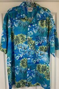 Third Rail Vintage Herren Hawaii wunderschön Floral Mesh Shirt XL Cabana Cruise