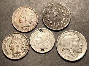 Us Coin Lot Obsolete Type Coins High Grade Details 3 Cent Shield IHC Etc