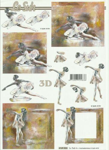 1 A4 Hoja No Die-Cut Decoupage bailarina de ballet le Suh 4169826