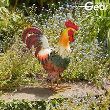 Metal Alert Cockerel Garden Conservatory Animal Sculpture Ornament