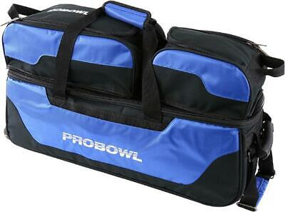 Pro Bowl 3 Ball Tote Roller Bowling Ball Bag Red//Black