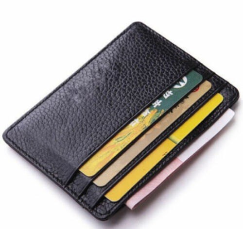 Business Men Leather Wallet Slim Card Holder Money Clip Wallet ID Case