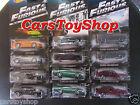 Fast & Furious set 12 Hot Wheels Toyota Supra Skyline Ford Mustang Gran Torino