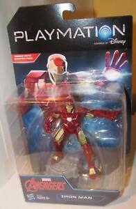 Playmation-Marvel-Avengers-Iron-Man-Blaster-Disney-4-5-034-Figure-in-Package