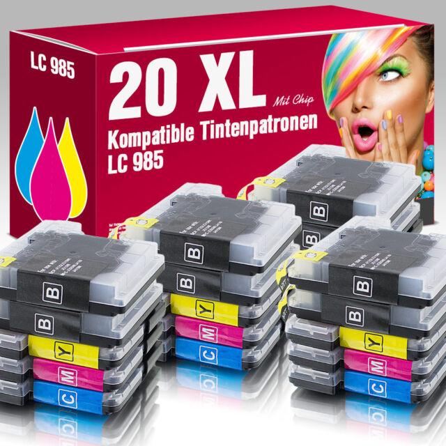 20 Patronen für Brother DCP-J315W MFC-J220 DCP-J125 MFC-J415W MFC-J265W LC985