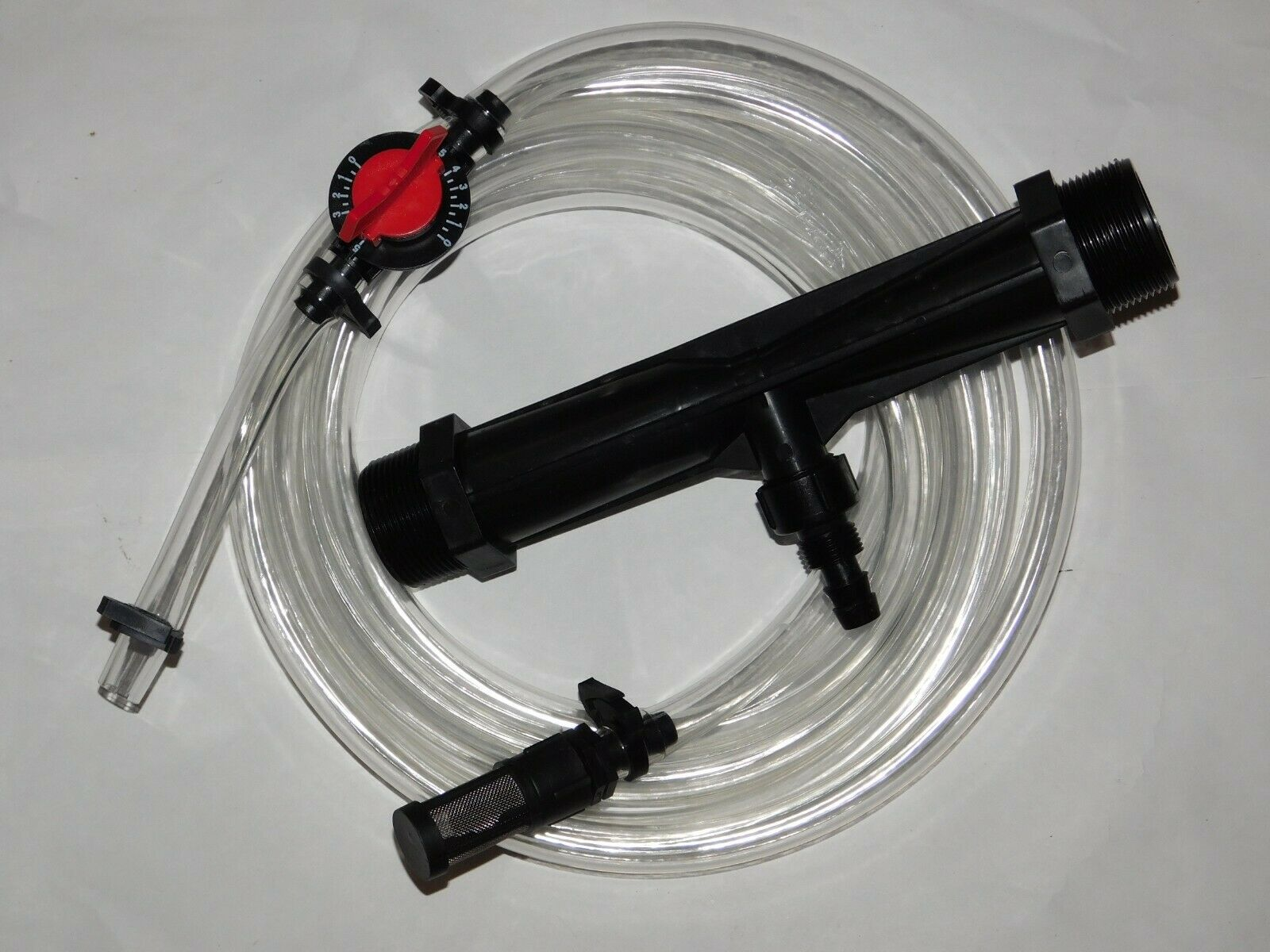 1.5 Fertilizer injector for drip irrigation systems, 1 1 2 Inlet outlet thread.