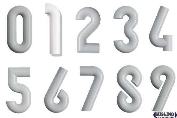 HEWI Hausnummer   702.165 Ziffer und Farbe nach Wahl D= ø 33 mm Höhe = 165 mm