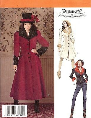 SteamPunk Jacket Coat PATTERN Simplicity 1732 Neo Victorian 6-22 Industrial Age