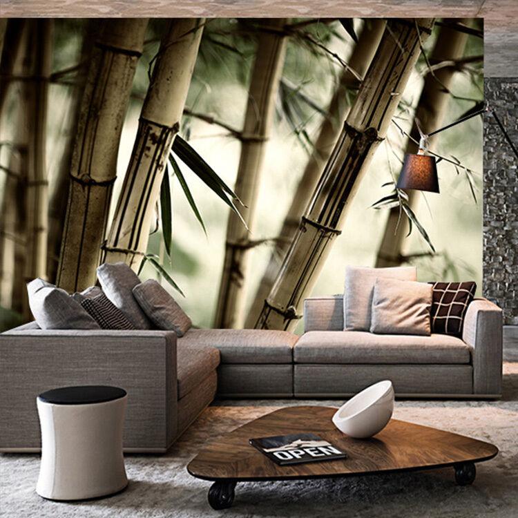 3D Weiß Bambus 2455213 Fototapeten Wandbild Fototapete BildTapete FamilieDE