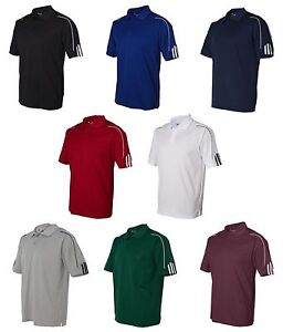 ADIDAS-GOLF-NEW-Climalite-Men-039-s-Size-S-3XL-Three-Stripes-Polo-Sport-Shirt-A76