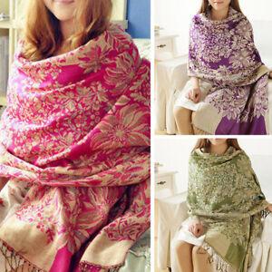 Womens-Lady-Long-Soft-Warm-Cashmere-Scarf-Wrap-Large-Winter-Shawl-Stole-Pashmina