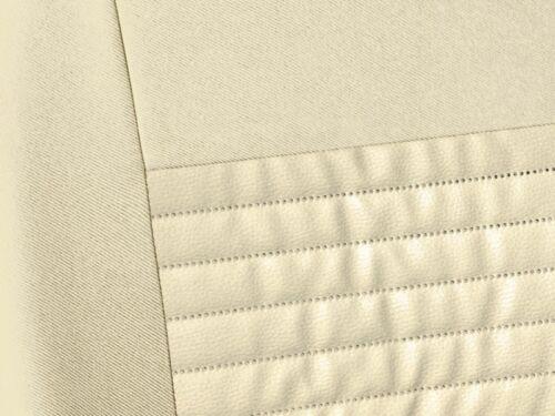Set Completo Cubiertas de Asiento de Coche Apto Rover 75-Cuero Eco Cuero Beige
