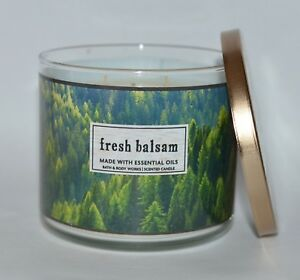 BATH-amp-BODY-WORKS-FRESH-BALSAM-SCENTED-CANDLE-3-WICK-14-5OZ-LARGE-FOREST-PINE