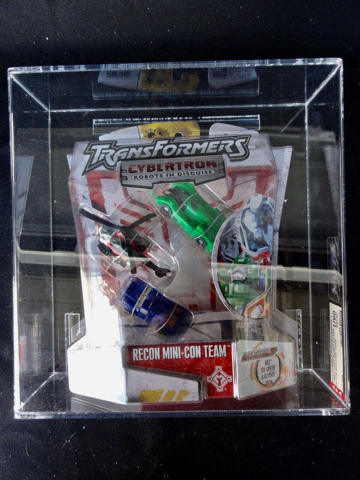 2005 transformadores AFA Cybertron Recon Mini con equipo Cinta Sellado sin usar y en caja sellada MIB Caja de  2