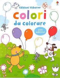 Colori-da-colorare-Con-stickers-Usborne-Libro-nuovo-in-offerta