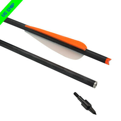 6x Crossbow Bolts 20/'/' Carbon Hunting Arrows Fletched 4/'/' Vanes Crossbow Hunting