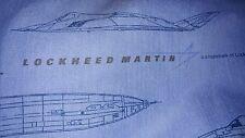 Vintage Dan River Twin Flat Sheet Lockheed Martin Aircraft 1980's  Stealth F22