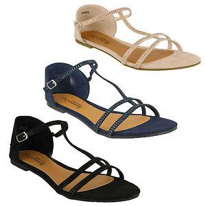 OFFERTA Savannah da donna DIAMANTINO CON CINGHIA sandalo open toe Estate piatto