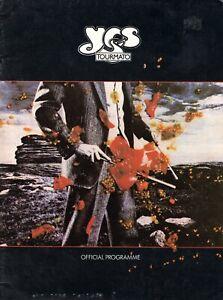 YES 1978 TOURMATO U.S. TOUR CONCERT PROGRAM BOOK-JON ANDERSON-VG TO EXCELLENT