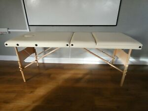 Folding-Wooden-Massage-Table-Cream-Coloured-by-Serenity-Beauty-with-Carry-Bag