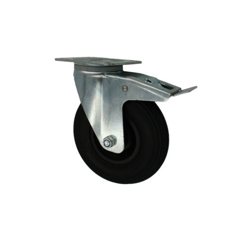 Lenkrolle mit Totalstop Rad Ø 200x50 mm Transportrolle Rolle Pannensicher