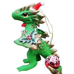 2020 Xmas Santa Baby Dragon Home Ornament Party Christmas Pendant with Lanyard