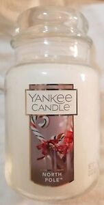 Yankee-Candle-NORTH-POLE-Large-Jar-22-Oz-New-Christmas-White-Label-Cool-Mint