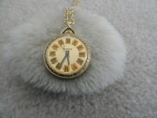 Swiss Made Vintage WInd Up Sakata Necklace Pendant Watch with a Second Hand