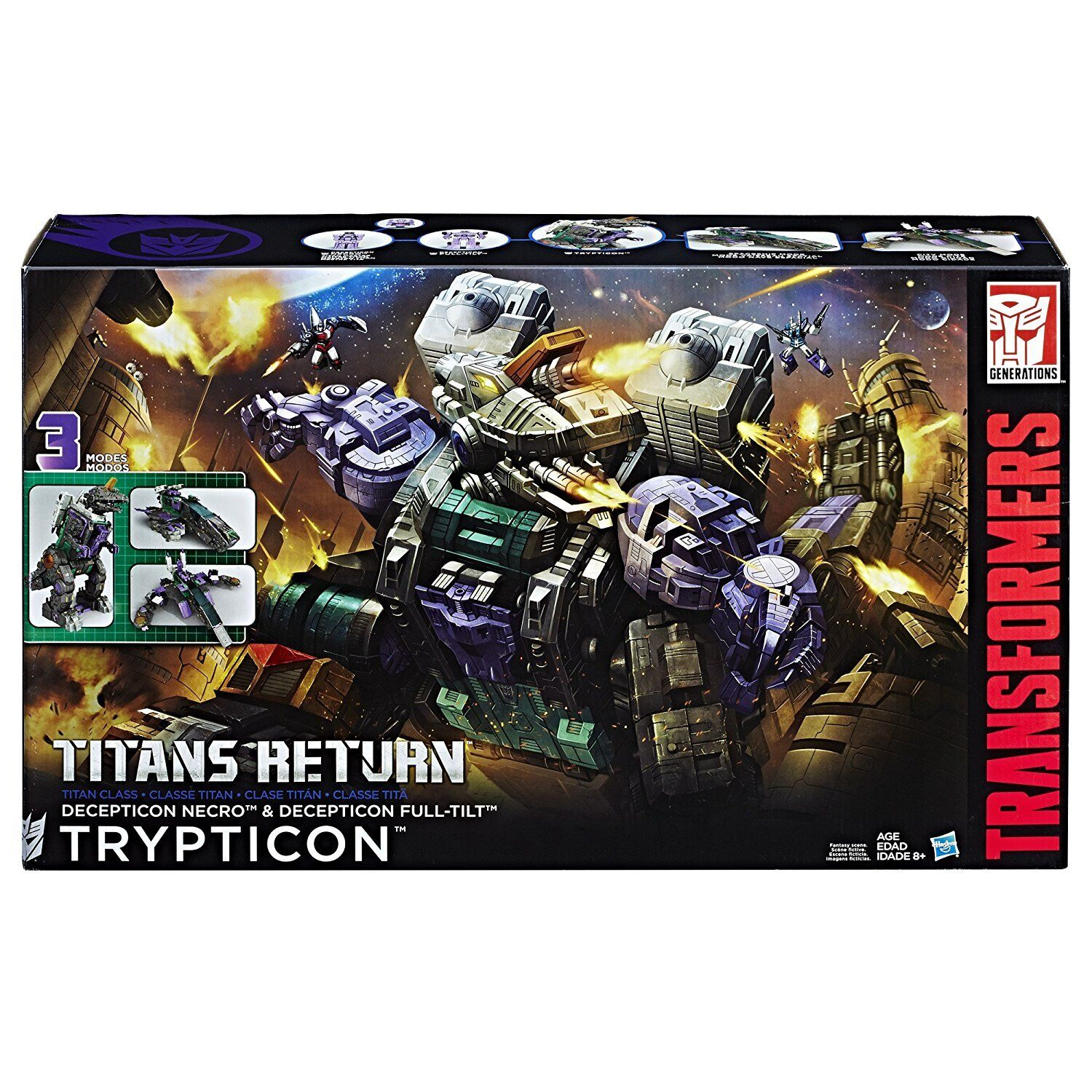Transformers Hasbro Generations Titans Return Trypticon Brand New