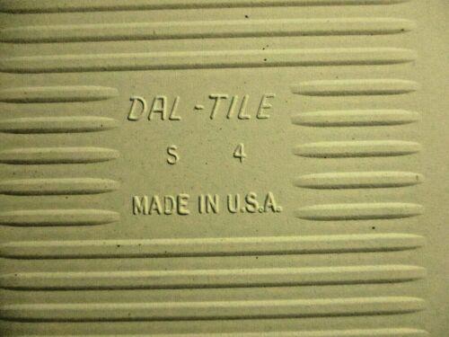 "1 Vintage Dal DalTile USA Porcelain Ceramic Wall Tile 4-5//16/"" Square Black"