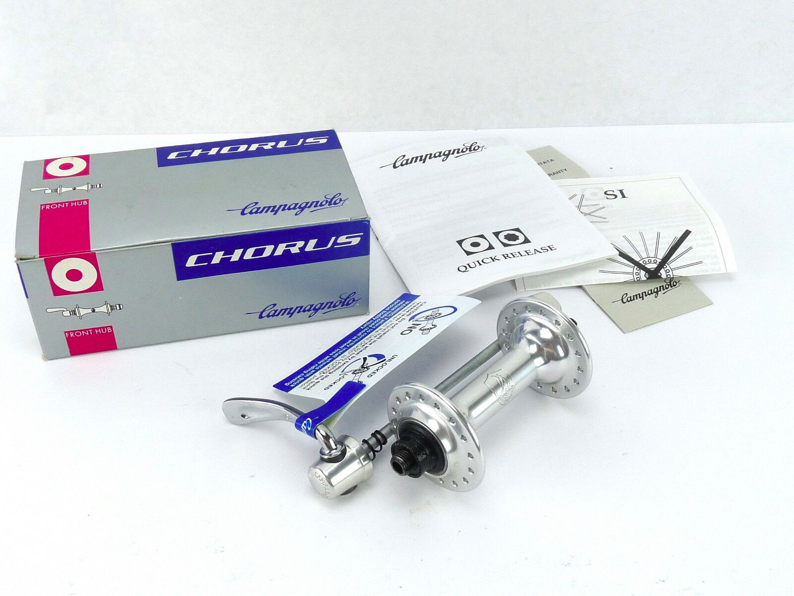 Campagnolo Chorus Front Hub 32 Holes 1999  Vintage Bike 9 speed era LAST ONE NOS  new style