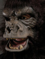 Two Bit Roar Gorilla Great Ape Costume Adult Halloween Mask Movimg Mouth