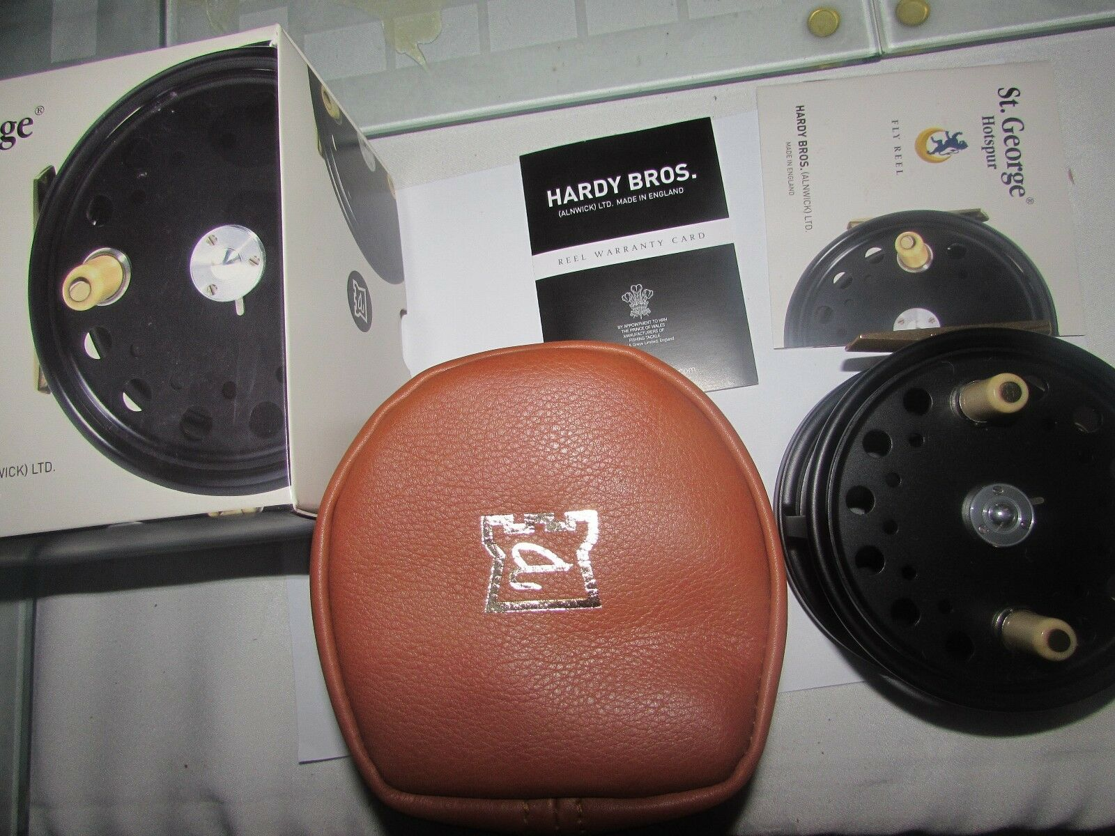 NUOVO in scatola inutilizzato Hardy St George Hotspur 9 10 RHW SALMONE FLY FISHING REEL