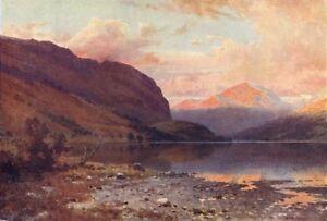 GéNéReuse Scotland. Loch Lubnaig 1911 Old Antique Vintage Print Picture La Qualité D'Abord