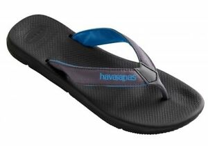 b8d4931e870a8 Havaianas Surf Pro Brazil LOGO Flip Flops BLACK   BLUE mens Thongs ...