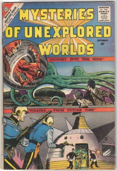 Mysteries of Unexplored Worlds Comic #20 CDC 1960 FINE-