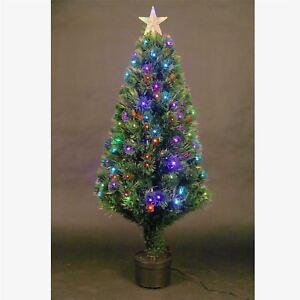 4ft Christmas tree Fiber Optic Pre-Lit xmas tree with LED Lights ...