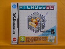 ds PICROSS 3D A Mind-Expanding Puzzle Game Lite DSi 3DS Nintendo PAL UK Version