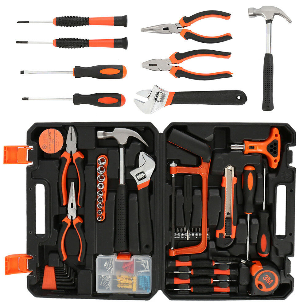 82Pcs Household Bike Bicycle Car Garde Garage Maintenance Repair Tool Kit Set