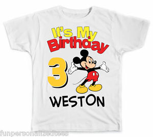 Image Is Loading Personalized It 039 S My Birthday Disney Mickey