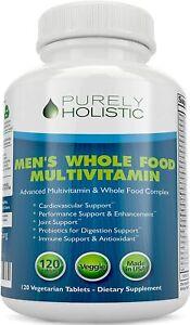 Mens Multivitamin Whole Food Holistic Supplement 120 Tablets Multi Vitamins