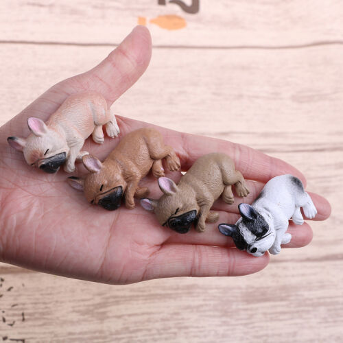 French bulldog sleepy corgis dog toy action figures PVC model toy kid gifts YL