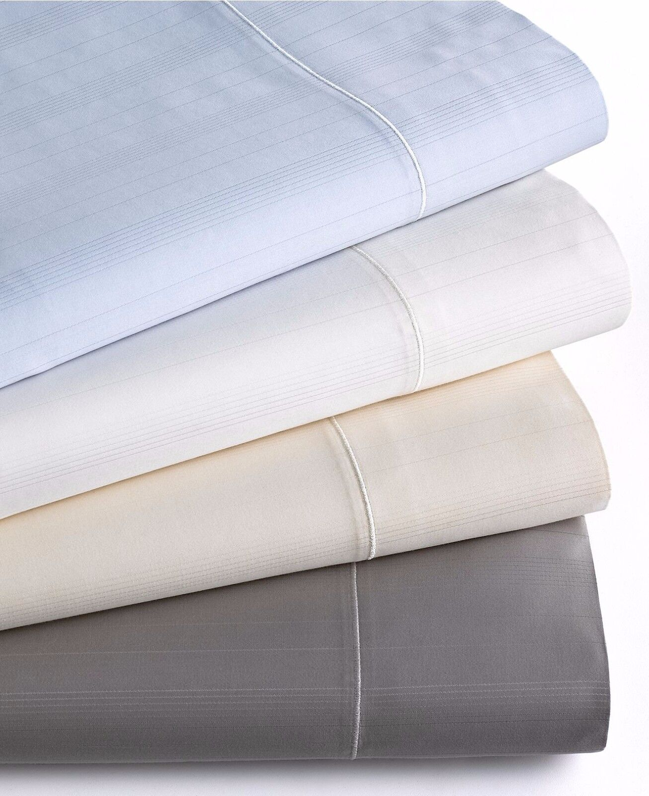 Hotel Collection 700 TC Stripe MicroCotton Queen Fitted Sheet IVORY R584
