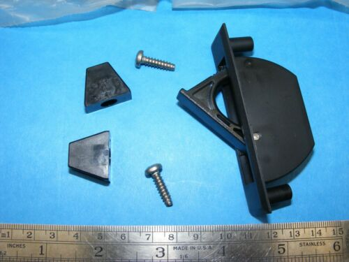 QTY 2 Southco 67-10-P BLK Concealed Pull Surface Mount Hidden Handle Grabber