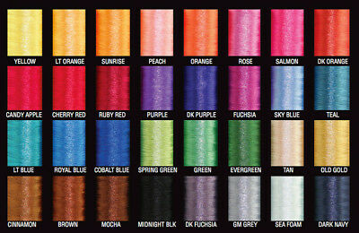 3 Spools PacBay Nylon Rod Building Thread-950 Yards Size A-Fishing-Pick Color