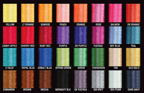 Free Ship PacBay Nylon Rod Building Thread Pick Color 950 Yards Size A